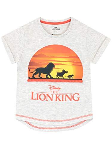 Disney Mädchen König der Löwen T-Shirt The Lion King Grau 146 (König Der Löwen T Shirt Kinder)