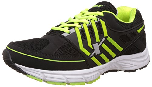 Sparx Men's Black and Fluorescent Green Running Shoes - 8 UK/India (42 EU)(SX0505)