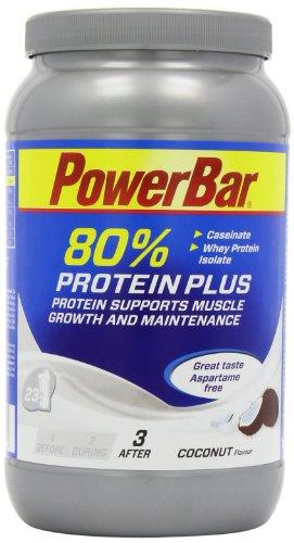 Casein Whey Protein-Pulver von Powerbar | Protein Plus 80% | Eiweißpulver ohne Farbstoffe und Aspartam | Protein Shake leckerer Geschmack und gute Löslichkeit – 700g KOKOS