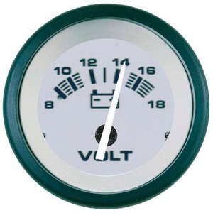 'Sierra International 61548p Driftwood 8to 18VDC Dial Range Scratch Resistant System Voltmeter, 2by Teleflex - Teleflex Voltmeter