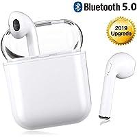 Youxiuerji Verdaderos Inalámbricos Auriculares Bluetooth 5.0 Mini en el oído TWS Auriculares con Estuche de Carga, Auriculares con cancelación de Ruido con micrófono para Llamadas Manos Libres