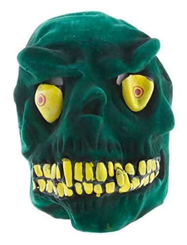 costumebakery - Kostüm Accessoires Zubehör Horror Maske Alien Monster Krokodil Drache,, perfekt für Halloween Karneval und Fasching, Grün