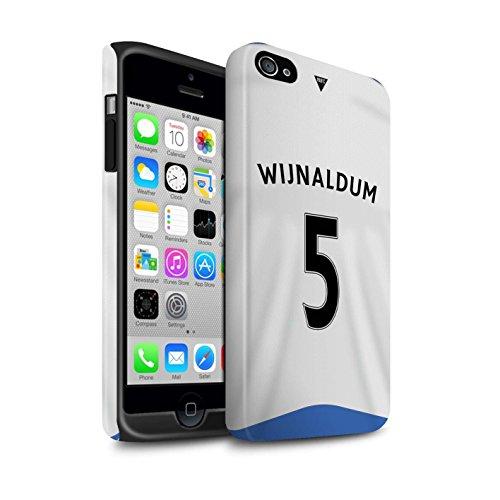 Offiziell Newcastle United FC Hülle / Matte Harten Stoßfest Case für Apple iPhone 4/4S / Pack 29pcs Muster / NUFC Trikot Home 15/16 Kollektion Wijnaldum