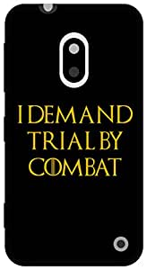 The Racoon Grip Trial by Combat hard plastic printed back case / cover for Nokia Lumia 620
