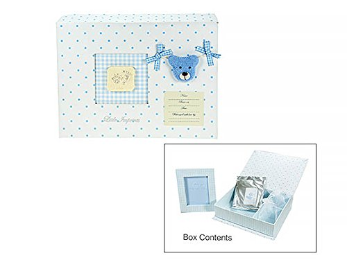 Baby Boy Gift Set Keepsake Box with Hand and Foot Casting Kit and Frame