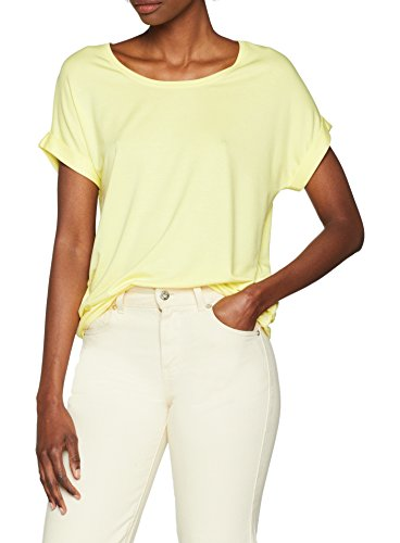 Gelbe Damen-shirt (ONLY Damen onlMOSTER S/S O-Neck TOP NOOS JRS T-Shirt, Gelb (Yellow Pear), 38 (Herstellergröße: M))