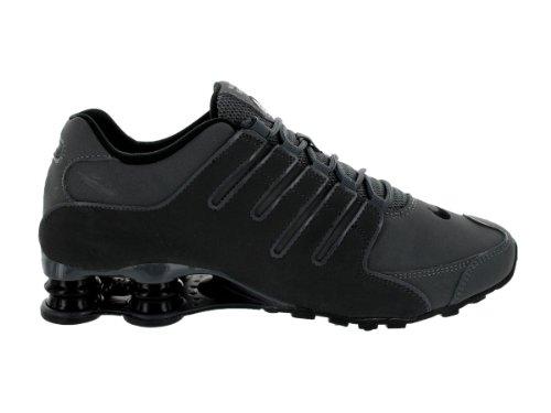 Cinza Nike De Shox Homens Escuro Couro Nz Formadores RBzpwqR