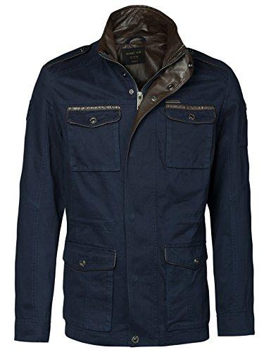 JAMMY - WIN Herren Army MILITÄR Jacke Baumwolle Parka Feldjacke Vintage Military Herrenjacke, Größe:XL;Farbe:Dunkelblau Military Style Jacke