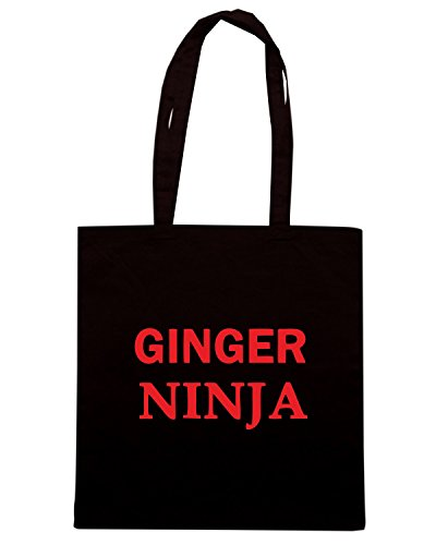 T-Shirtshock - Borsa Shopping TR0053 GINGER NINJA 25mm 1 Pin Badge Button Humour Joke Fun Hair Nero