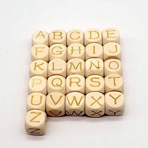 xinrongqu Letras De Madera Hechas A Mano Decoradas con Interesantes Letras De Cubo Palabras Regalo De Cumpleaños DIY Niños Libro De Texto
