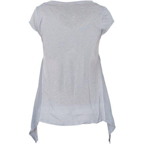Affliction Damen T-Shirt Roman Grau Schwarz