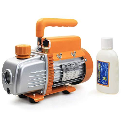 BACOENG 3CFM Einstufige Vakuumpumpe Unterdruckpumpe Vakuum Pumpe 85 L/Min -