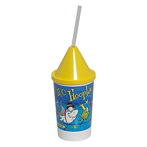 Dixie 10KD271015 3 Piece H2O Hoopla Kid's Favorites Collectible 10 oz Cups, Lids and Clear Straws Set (Case of 400 cups, 400 lids, and 400