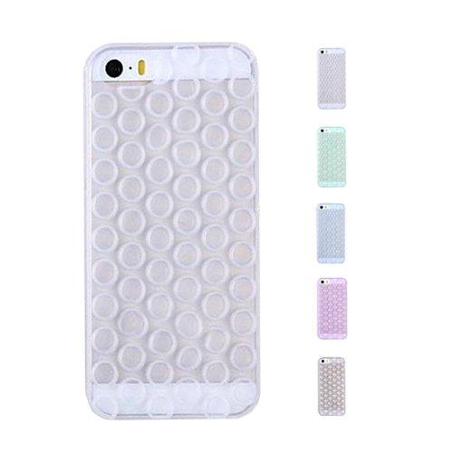 D9Q TPU Ausgestattet Fall Soft 3D Bubble Wrap Design Haut Abdeckungs Schutz für iPhone 6 Plus !! Blau