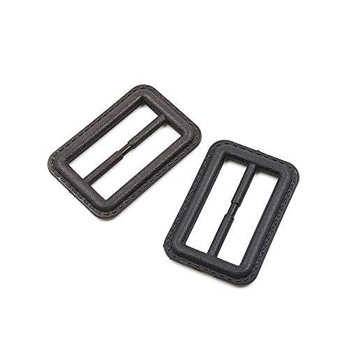 LEEQ Rechteckige einfache Schnalle für Frauen Kleider Mäntel Herren Jacke Gürtel Tasche DIY Nähen Basteln Zubehör schwarz 50 mm - Herren-kleid-gürtel-schnalle