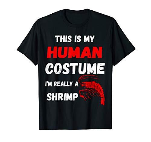 Kostüm Meerestiere - Garnelen Menschliches Kostüm Garnele Krustentiere T-Shirt