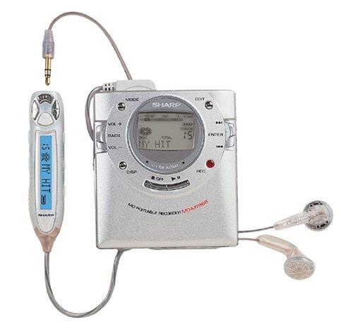 Sharp MiniDisc-MT 866 H tragbarer MiniDisc-Rekorder silber