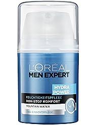 L'Oréal Men Expert Hydra Power Feuchtigkeitspflege, Tag- und Nachtpflege für Männer, 1er Pack (1 x 50 ml)