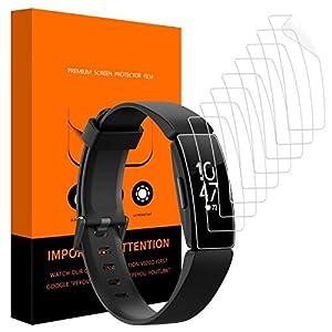 [9 Stück] Schutzfolie für Fitbit Inspire und Fitbit Inspire HR, PEYOU Wet Applied HD Clear Schutzfolie, Anti-Bubble & Einfache Installation