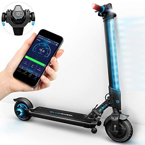 Bluewheel ¡Novedad 2018! Patinete eléctrico Scooter IX300 App Smartphone,LED, Bluetooth,LCD Display, batería Li-Ion de hasta 20 km*. Patín Freestyle para...