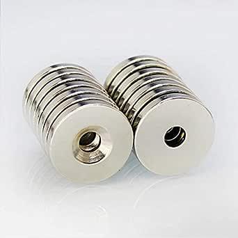 Effetool 25mmx10mm 5mm Hole Round Magnet Ring Rare Earth Neodymium Magnet