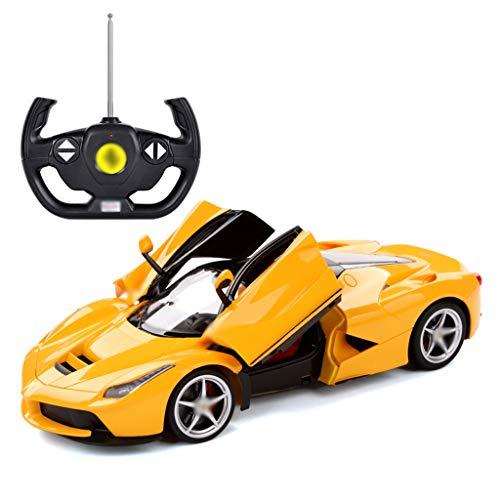 LYN Fernbedienung Auto Große Kinder Spielzeugauto Wiederaufladbare Sportwagen Modell Ferrari Fernbedienung Auto (rot, Gelb) (Color : YELLOW)