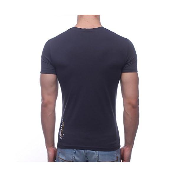 BOXEUR DES RUES - T-Shirt Girocollo Antracite con Maxi Stampa Frontale, Uomo 3 spesavip