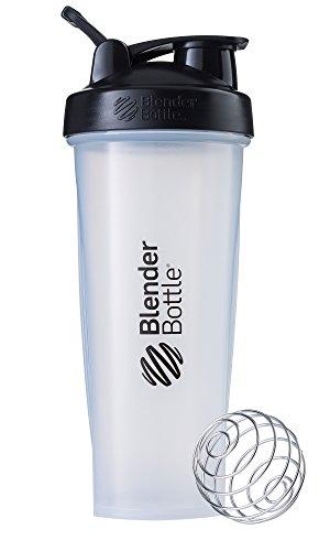 Blender Bottle Classic Loop - Protéine Shaker | Bouteille d'eau avec poignée de transport | 940 ml | clear noir