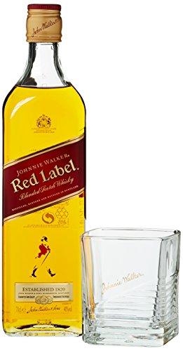 Johnnie Walker Red Label Scotch mit Glas Whisky (1 x 0.7 l)