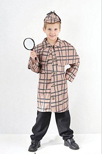 Sherlock Holmes - Kinder-Kostüm - XL - 146 bis - Sherlock Holmes Hut Kostüm