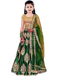 36f05aaa0f7f Dwarshi Fashion Girls Silk Semi-Stiched Lahenga Choli (Girls_Lehenga_10-15  Year)