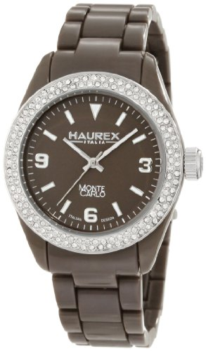 Haurex Italy Women's PM360DM1 Montecarlo Brown Polycarbonate Swarovski Watch