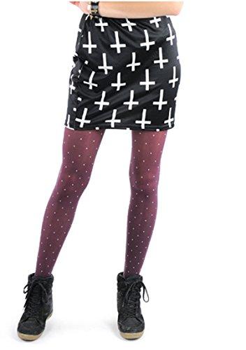 Damen Mini Rock Supermini Larella Rock Kreuz Rock Damen Minirock Partyrock Skaterrock Sommerrock Blickdicht (Marihuana Joint Kostüm)
