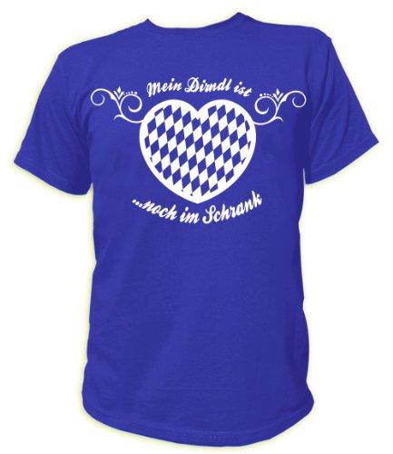 Artdiktat T-Shirt Mein Dirndl ist noch im Schrank Herren, Größe 4XL, blau