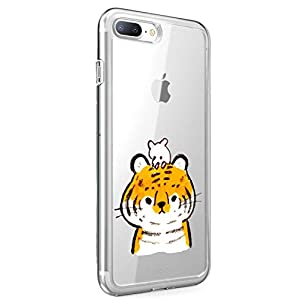Oihxse Case Compatible with iPhone 5/5S/SE 4 inch Clear with Chic Design, Soft TPU Silicone Ultra Thin Slim Fit [Shockproof] [Anti-fingerprint] Crystal Transparent Case Cover Bumper Skin, Tiger   7