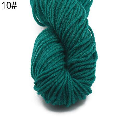 Lsgepavilion 1 Rolle weiches Wollgarn Baby Kinder Kleidung Pullover Mütze Schal DIY Stricken Häkeln, 10#, Einheitsgröße -