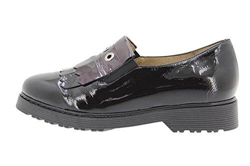 Scarpe donna comfort pelle PieSanto 9655 comfort larghezza speciale Negro