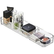 mDesign Pratico organizer cassetto porta cosmetici – Organizer trucchi per tenere in ordine tutti i prodotti cosmetici – Colore: trasparente