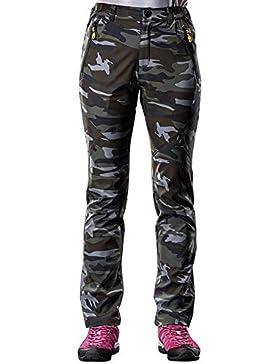 [Patrocinado]WANPUL Pantalones de Camuflaje Hombre Pantalon Softshell Mujer Pantalon Trekking Transpirable Pantalones de Montaña