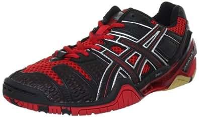 Asics GEL-BLAST 4 E112N, Herren Handballschuhe, Rot (Red/Black/Silver 2390), EU 45.5 (US 12)