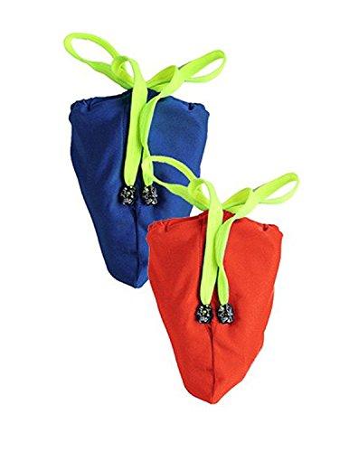 2 Thong (MODETREND Herren G-string Thong Zwei Stück Strings Slip Unterwäsche Männer Mini Mankini Badehosen Badeshorts Badeanzug tiefblau + orange One Size)