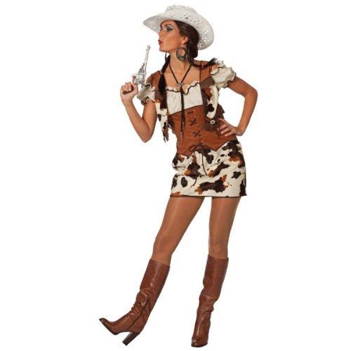 NEU Damen-Kostüm Cowgirl Ringo, braun Gr. 46 (Country Sängerin Kostüme)