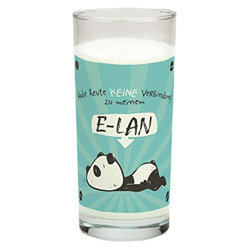 Close Up Trinkglas Kein E-LAN Panda Glas - transparent, Bedruckt, aus Glas.