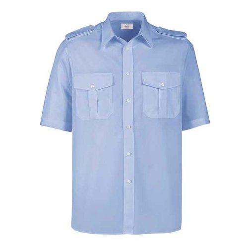 Greiff Classixx Herren Pilothemd 6603 kurzarm (47/48 - 3XL, bleu)