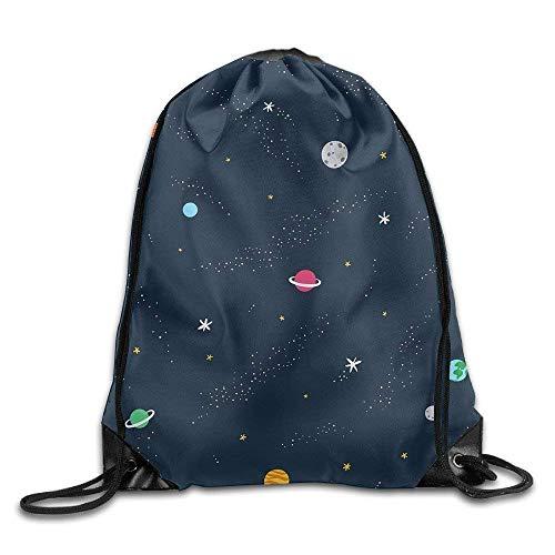shuangshao liu s Blue Planet Drawstring Tasches Portable Backpack Pocket Tasche Travel Sport Gym Tasche Yoga Runner Daypack