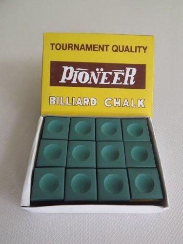 ClubKing Ltd Pioneer Billardkreide, Grün, 12 Stück