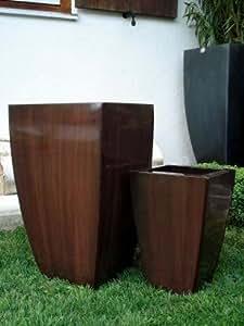 2er set zink blumenk bel bert pfe pflanzk bel blumentopf. Black Bedroom Furniture Sets. Home Design Ideas