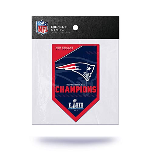 Rico NFL New England Patriots Super Bowl LIII Champions Statischer Aufkleber - Bowl-fanartikel Super Patriots