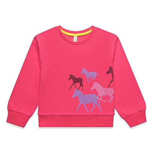 ESPRIT KIDS Mädchen Sweatshirt Rosa (Dark Pink 326), Herstellergröße: 104+