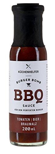 Küchenhelfer Burger Bomb BBQ Sauce Bier und Braumalz, 2er Pack (2 x 200 ml)